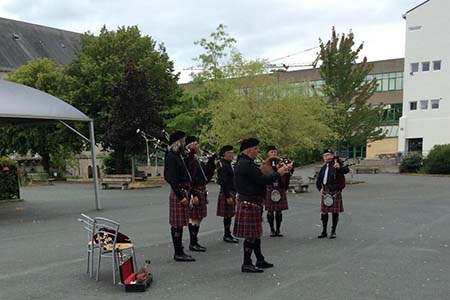 Breton Pipers at the opening of the Congress