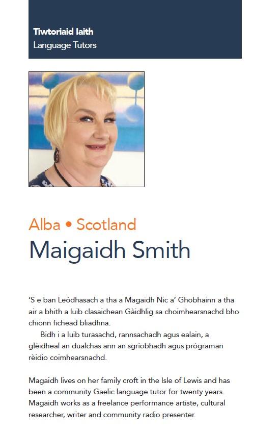 ICC - Alba Language Tutor - Maigaidh Smith